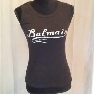 Balmain sleeveless stretchy T